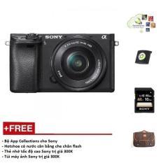 Máy ảnh Sony A6300 + Kit 16-50mm – Màu Đen – Tặng thẻ nhớ + Túi + Gói cài app + Nắp Hotshoe