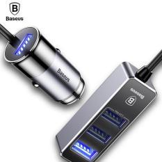 Bộ sạc thông minh 1 cổng usb và 3 cổng USB kéo dài công xuất 5,5A thương hiệu Baseus Đang Bán Tại Vietstore