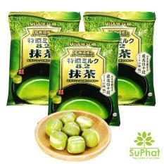 Bộ 3 bịch kẹo trà xanh matcha UHA Nhật Bản [SuPhat Shop]