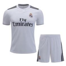 Áo bóng đá câu lạc bộ Real Madrid ngắn tay – Trắng – Hàng thun lạnh xịn – 2018 – 2019
