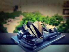 Mô hình kim loại lắp ghép lắp ráp trang trí trưng bày 3D Nhà Hát Opera Sydney bằng thép không gỉ (tặng dụng cụ lắp ghép khi mua 2 bộ bất kì)