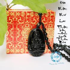 Dây chuyền đeo cổ Phật Đại Nhật Như Lai cao cấp – Phật bản mệnh người tuổi Mùi, Thân