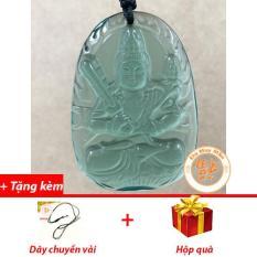 Mặt Dây Chuyền Phật Bản Mệnh Hư Không Tạng Lưu Ly Xanh