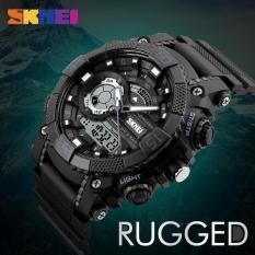 (Cập nhật 2019)Đồng hồ thể thao nam Skmei 1228 Stopwatch chống nước 50m dây cao su cao cấp