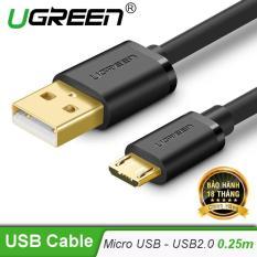 Dây Micro USB 2.0 sang USB mạ vàng dài 0.25m UGREEN US125 – Hãng phân phối chính thức