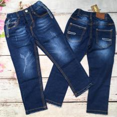 Quần jeans dài bé trai túi phối chỉ trắng từ 20kg đến 28kg – QT230
