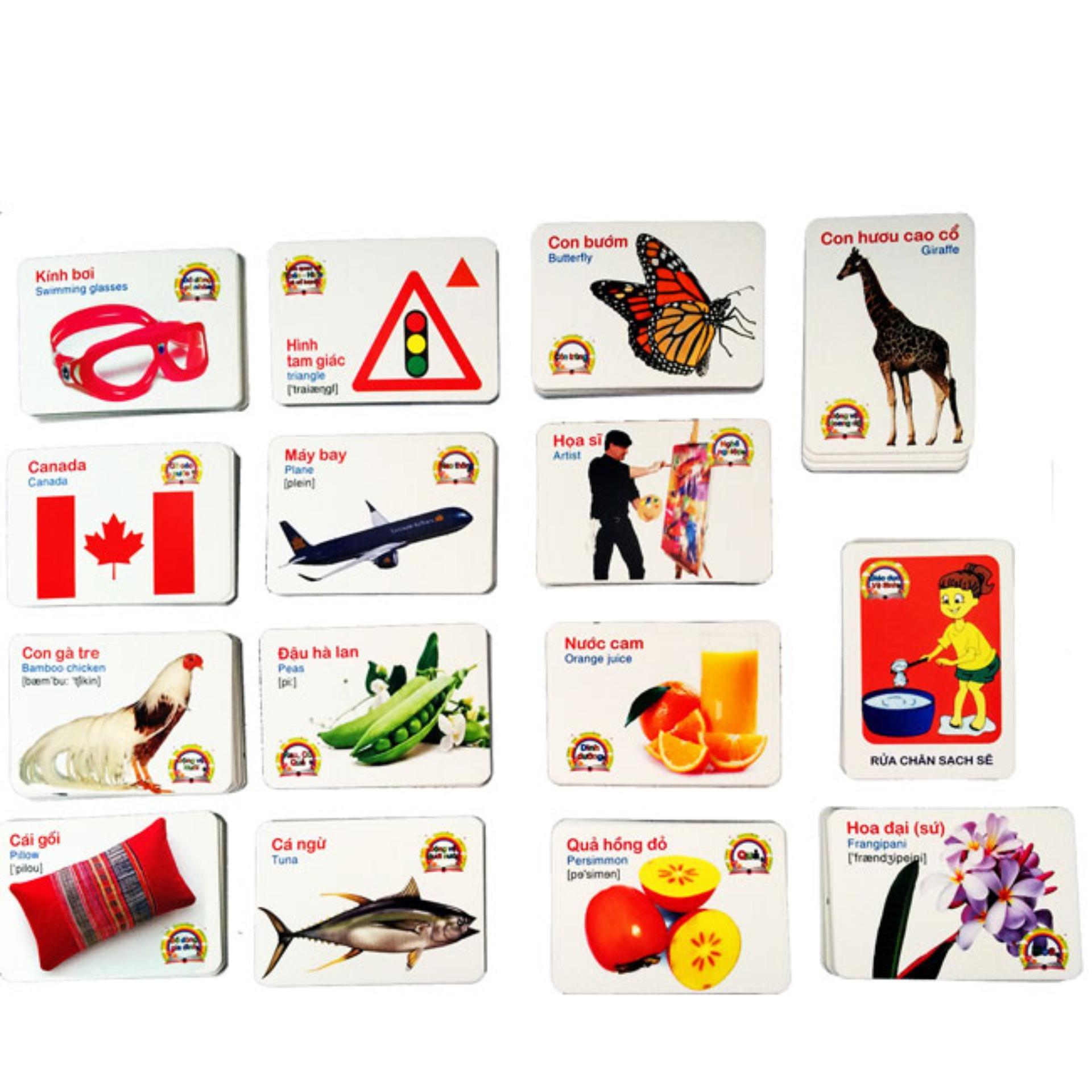Bộ 416 Thẻ Học Tiếng Anh Thông Minh Flashcard Cho Bé