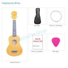 Đàn Ukulele Soprano gỗ + Tặng 4 phụ kiện (Bao Sách Dây dự phòng Phím gảy) – HappyLive Shop (Nhiều màu)