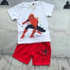 Bộ đồ siêu nhân tranh vẽ hình người nhện Spiderman cho bé trai