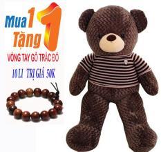 Gấu Bông TEDDY Khổ Vải 1,1M Cao 90cm Nâu