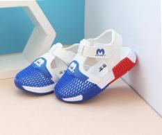 Giày sandal cho bé trai Size 22-26 RS142 (Xanh trắng)