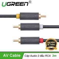 Cáp AV hoa sen 3 đầu RCA dài 3m Ugreen AV105 10526 – Hãng phân phối chính thức