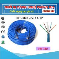 100 Mét Dây cáp mạng Cat6 UTP HT-Cable – Bấm sẵn 2 đầu
