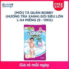 [MỚI] Tã quần Bobby (hương trà xanh) gói siêu lớn L-54 miếng (9 – 13kg)