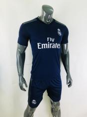 Bộ quần áo đá banh – đá bóng CLB Real Madrid màu xanh đen sân khách mùa giải 2018-19 mẫu chính thức