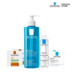 Bộ sản phẩm làm sạch và bảo vệ da dầu nhạy cảm La Roche-Posay Effaclar Gel 400ml