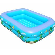 Bể bơi phao 2 tầng Size 120x95x35 cho bé – Tặng keo vá bể (Bể 1,2m)