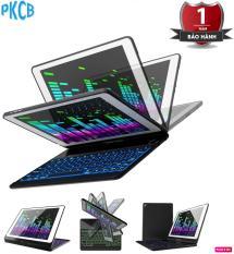 Bàn phím Bluetooth ipad New 2018 / iPad New 2017/ iPad Air / iPad Air 2/ ipad Pro 9.7 inch, xoay 360 độ, hỗ trợ đèn bàn phím – PKCB