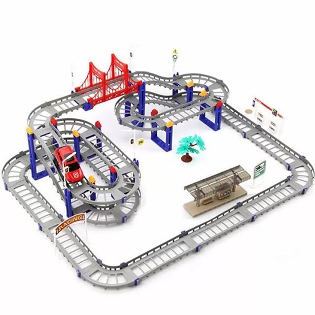 Ô TÔ TÀU LƯỢN – Bộ đồ chơi lắp ráp đường ray cực hấp dẫn cho bé