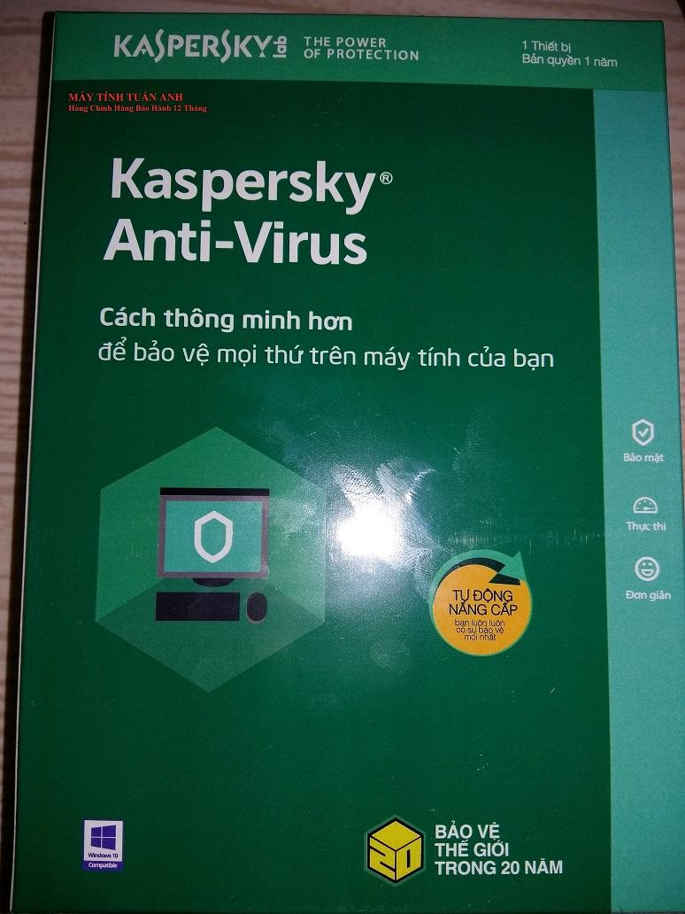 Giá Phần mềm Kaspersky- Anti virus 1U/2018 Tại Shop điện tử nhật minh