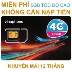 Sim 4G Vinaphone Vào Mạng Trọn Gói 1 Năm Miễn Phí Không Nạp Tiền. Tặng 5G/tháng