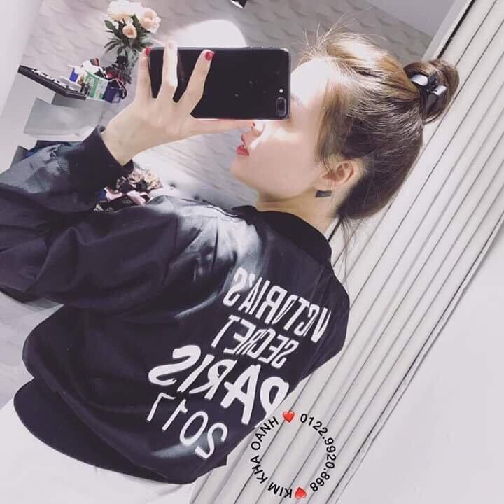 Áo khoác dù nữ teen VICTORIA SECRET B029(Đen)
