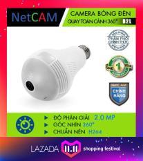 CAMERA IP WIFI BÓNG ĐÈN QUAY TOÀN CẢNH 360 ĐỘ NETCAM B2L FullHD 1080 (2.0MP) (Trắng)