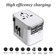 Ổ cắm điện Du Lịch đa năng USB Nguồn Điện AC 110 v 240 v W/Cây Lau Nhà Hộp ÂU CHÂU ÂU MỸ ANH Silver -quốc tế