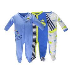 Set 3 Áo Liền Quần Có Tất Baby Gear Đẹp Cho Bé Trai ( Mẫu Giống Hình)