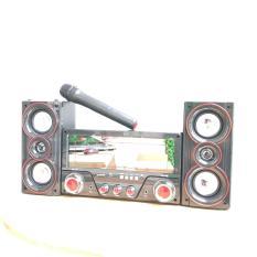 Dàn âm thanh tại nhà – loa vi tính cỡ lớn hát karaoke có kết nối Bluetooth USB Isky – SK335 Tặng kèm Mic không dây