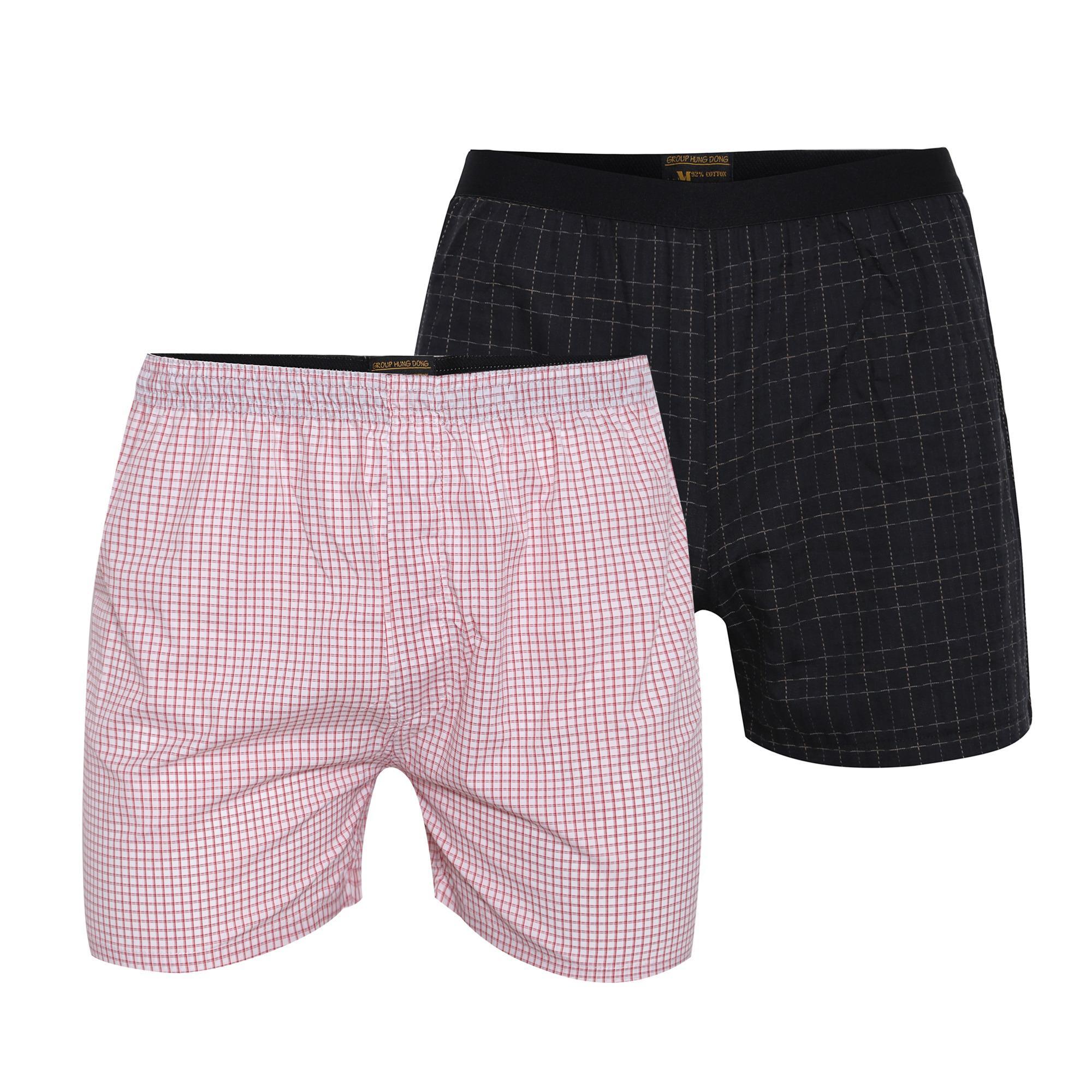 Combo 2 quần đùi mặc nhà cvring qd022 ( đen, hồng)