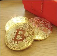Đồng Bitcoin Mô Hình Mạ Vàng 24k
