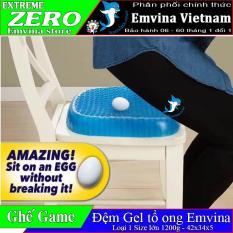 [ XẢ KHO 3 NGÀY ] Đệm Egg Sitter 42x35x5 1000gr tặng túi vải 20k size to nhất đệm GEL lưới 3d magic cushion thoáng khí êm ái Emvina Vietnam giảm đau lưng tốt cột sống đệm ngồi ghế game văn phòng xe oto