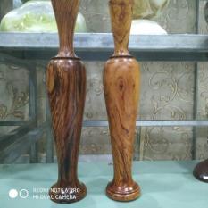 Cặp Bình nghệ thuật gỗ Cẩm Lai cao 29cm