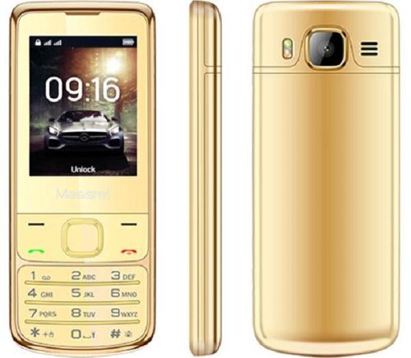 ĐTDĐ Masstel H860 màn hình màu 2.4 inch kiểu dáng giống 6700 khung viền mạ vàng 24k Full box+ Tặng...