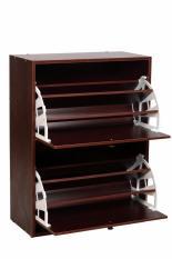 Tủ giày thông minh hai tầng bằng gỗ, kệ để giày thông minh, tủ đựng giày dép bằng gỗ, tủ để giày