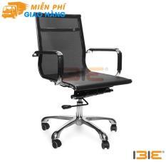 Ghế lưới IB801 chân hợp kim nhôm cao cấp màu đen