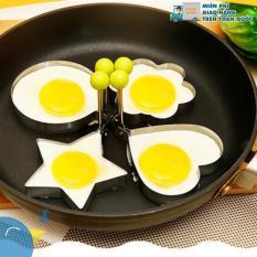 Bộ 4 khuôn rán trứng, khuôn inox cao cấp (khuôn chiên trứng tạo hình, khuôn làm bánh, khuôn cắt bột, khuôn cơm)