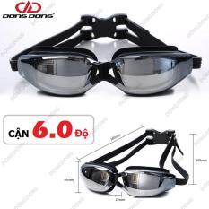 Kính bơi CẬN từ 1.5 độ – 8 độ, kính bơi tráng GƯƠNG 2588, chống UV, chống HẤP HƠI, kính bơi thời trang cao cấp – DONGDONG