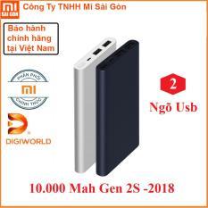 Pin dự phòng Xiaomi 10000 mAh gen 2s 2018 2 USB – Digiworld