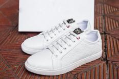 Giày thể thao trắng- nam+ 01 đôi tất