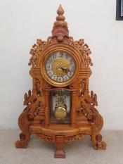 đồng hồ cây mi ly vỏ gỗ hương kích thước cao 70x45x15