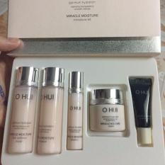 Set Ohui Miracle Moisture cấp ẩm dưỡng trắng hồng 5 sản phẩm