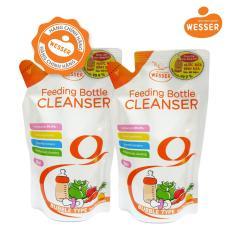 Bộ 2 gói nước rửa bình sữa Wesser 500ml Hương bưởi thơm mát, khử sạch mùi hôi trong bình sữa ( Nhập khẩu)
