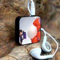Máy nghe nhạc MP3 hình vuông + cáp sạc + tai nghe