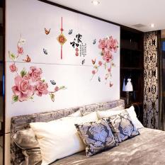[size lớn] Decal dán tường hoa phú quý SK2020AB-flowerdecal-Scenedecal
