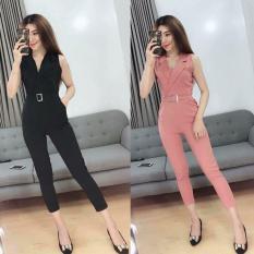 Jumpsuit nữ hàng thiết kế giả vest chất vải kim tuyến 5 màu xinh