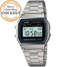 Đồng hồ dây kim loại Casio Anh Khuê A158WA-1DF