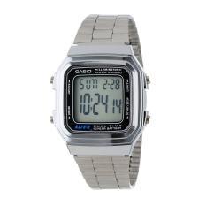 Đồng hồ dây thép không gỉ Casio A178WA-1ADF
