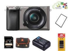 Sony A6000 Xám | Kit 16-50 + Túi + Thẻ nhớ 16gb + App 50$ + Pin Kingma + Sạc Pisen